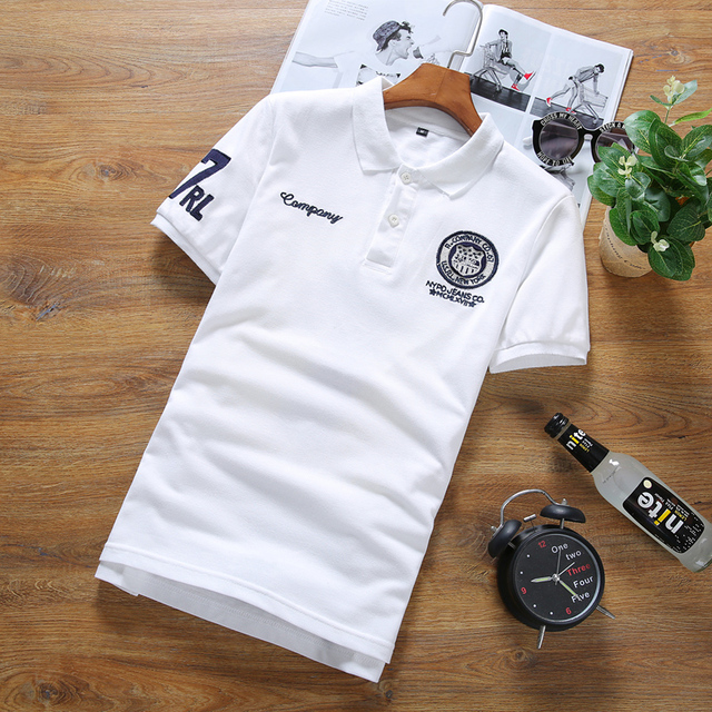 New 2016 summer embroidery desgin slim fit casual short-sleeve polo shirt men polo homme men's clothing size s-5xl 7-colors/DPL6