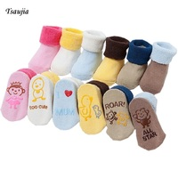 3 Pairs/Set cotton Baby Socks For Baby Girl Baby Boy Tsaujia Calcetines Bebe Toddler Newborn Infant Anti Slip Floor Socks KF034