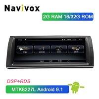 Navivox 10,25 ''Android 9,1 1Din Автомобильный dvd плеер радио gps навигация для BMW X5 E53 1999 2006 в тире Автомобильный мультимедийный стерео DSP