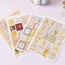 4 листа/партия) DIY винтажная бумажная наклейка Маленький принц штамп наклейка s для украшения скрапбукинга дневник