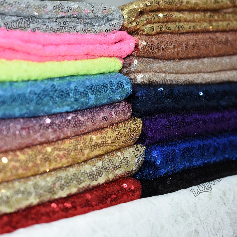Half Yard-45*120CM Embroidered Lace Sequin Fabric for Tissue Kids Bedding textile for Sewing Tilda Doll, DIY handmade materials