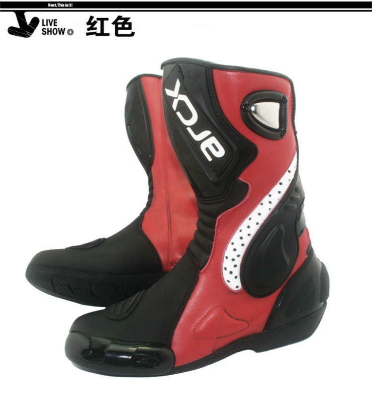 New design genuine leather Motorcycle Boots,Racing Boots ,street bike boot size 39-46