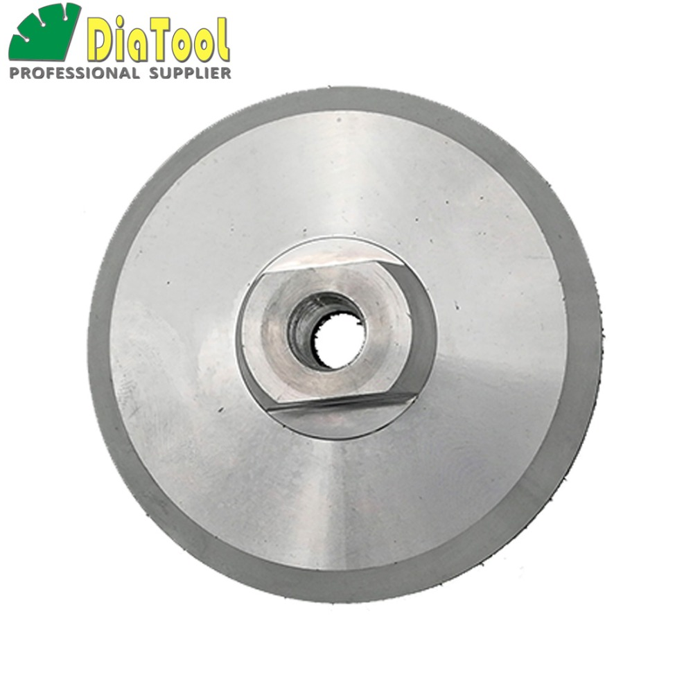 DIATOOL Diameter 100mm M14 Aluminium Based Backer For Polishing Pad, 4inch Nylon Backing Pad Holder