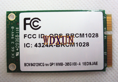BroadCom BCM94312MCG BCM4312 459263-001 Mini PCI-E Wireless Lan WLAN Wifi Wi Fi Card 802.11 4321MC