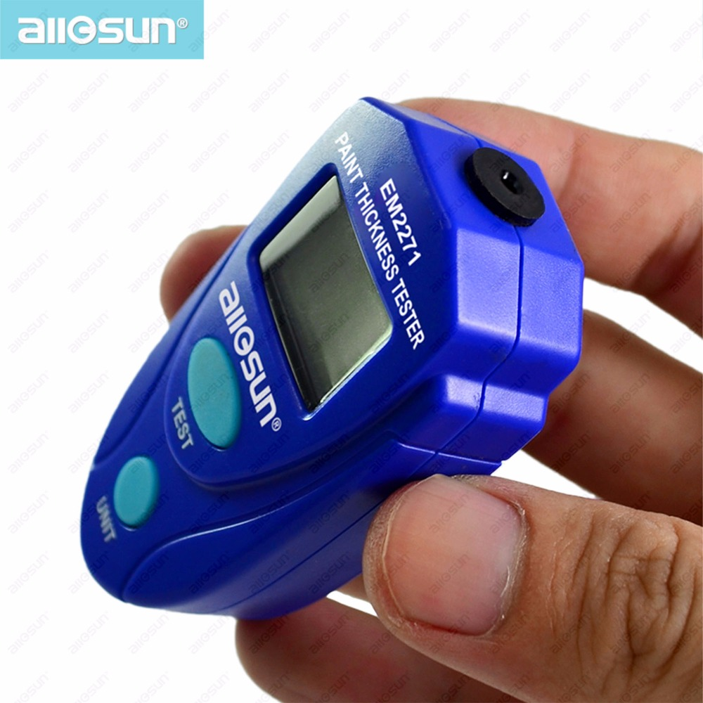 All Sun EM2271 Russia Manual Digital Mini Car Paint Thickness Meter Paint Thickness Gauge Auto Coating gm211 2in1 film coating thickness gauge meter 0 1500um non magnetic surface paint coatings thickness measurement can metal paint