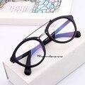 Estrela de coreia Mulheres Vidros do Olho Óptico Óculos de Armação Preta Marrom Leopardo Simples Espelho Óculos de Miopia Óculos de Armação
