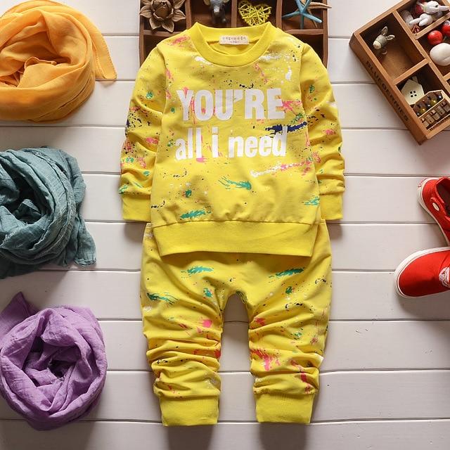 Весной новые дети из двух частей куртка + брюки одежда комплект дети костюмы мальчиков и девочек twinset спортивной одежды 2 шт./компл. 1044 #