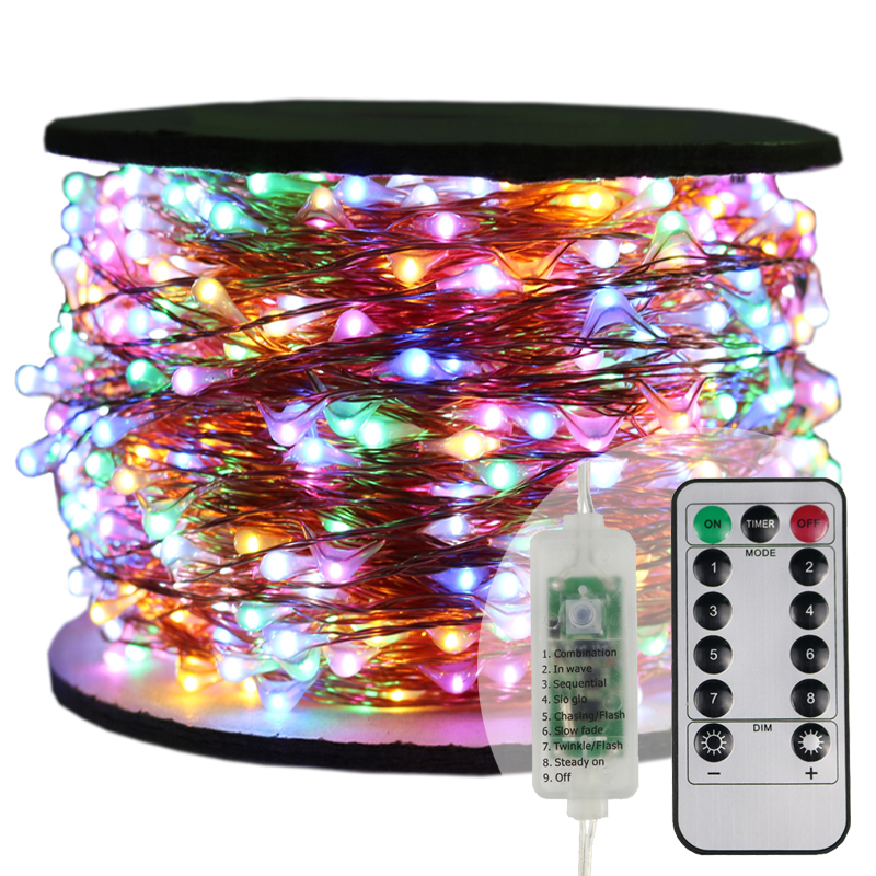 10-100M Remote Merry Christmas Wedding Decoration Lights Indoor Outdoor Garden Party Home Room Decor Garland Micro LED String