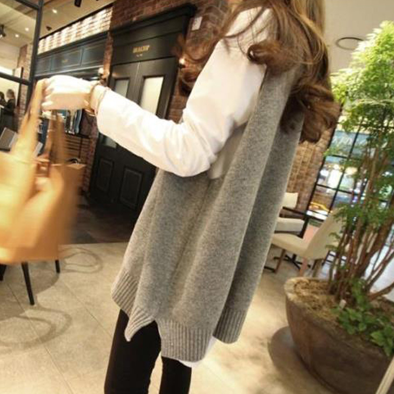 Long Sweater Vest Women Pullover Womens Jumpers Tricot Sweter