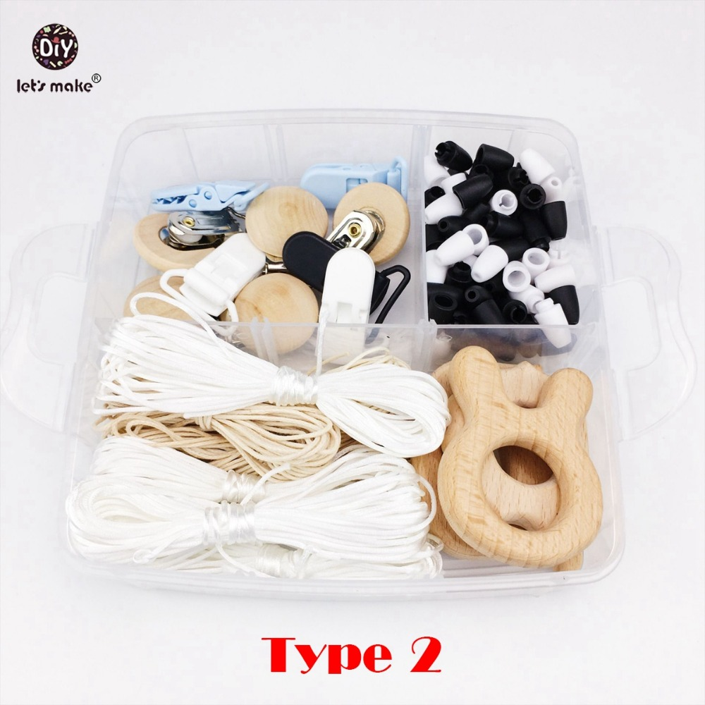 Lets Make Baby Teether Silicone Beads Maple Wooden Rings Beads Baby Play Gym Toys DIY Nursing Accessories Charms Wooden Teether