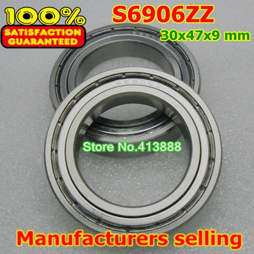 Высококачественная нержавеющая сталь подшипник SS6906ZZ S6906-2Z 6906 S6906 Z ZZ S6906Z S6906ZZ S61906ZZ 30*47*9 мм 440C материал
