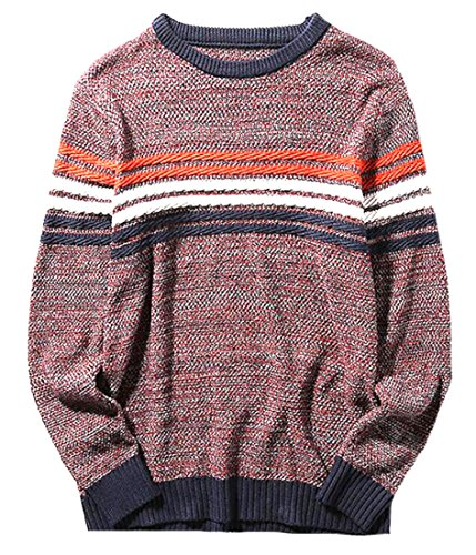 XQS Mens Warm Long Sleeve Solid High Neck Knitting Pullover Sweaters
