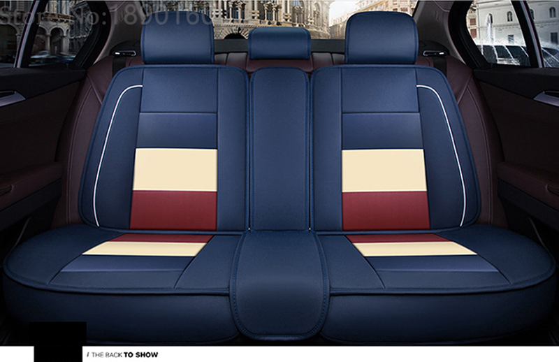 only rear leather car seat covers For Skoda Octavia Fabia Superb Rapid Yeti Spaceback Joyste Jeti car accessories car stickers 2 5m car rubber carbon stickers for skoda fabia octavia front lip bumper decoration for vw auto exterior stickers for toyota