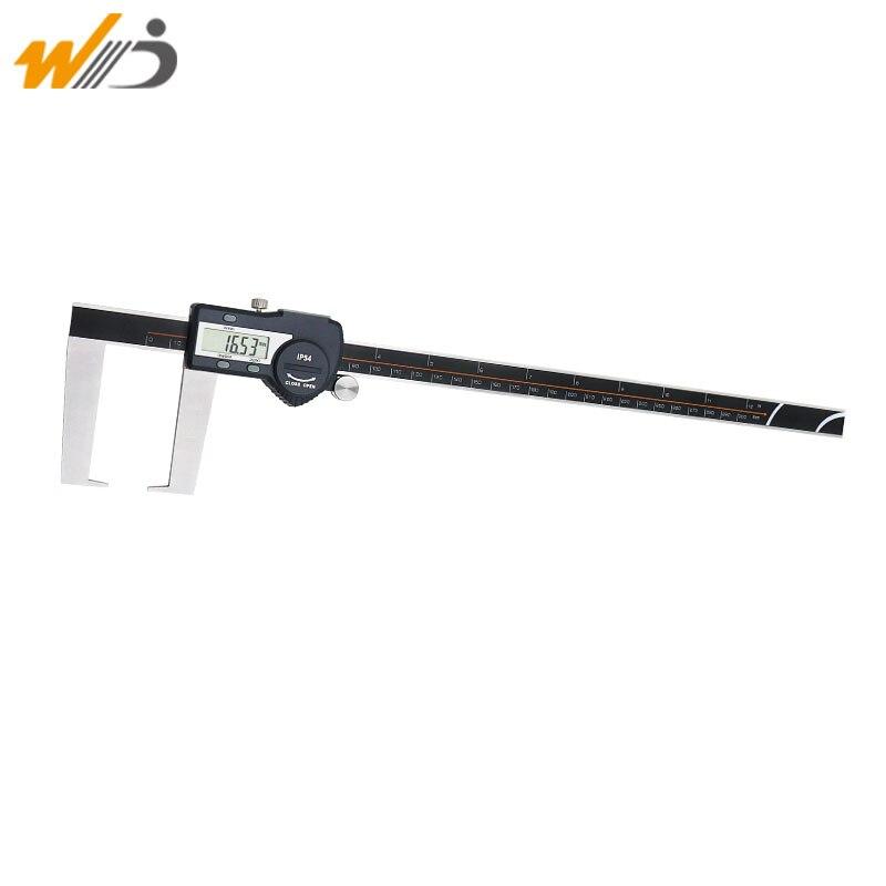 Pied à coulisse extérieur numérique 0.01mm 300mm avec Points de mesure plats pour rainures extérieures pied à coulisse en acier inoxydable