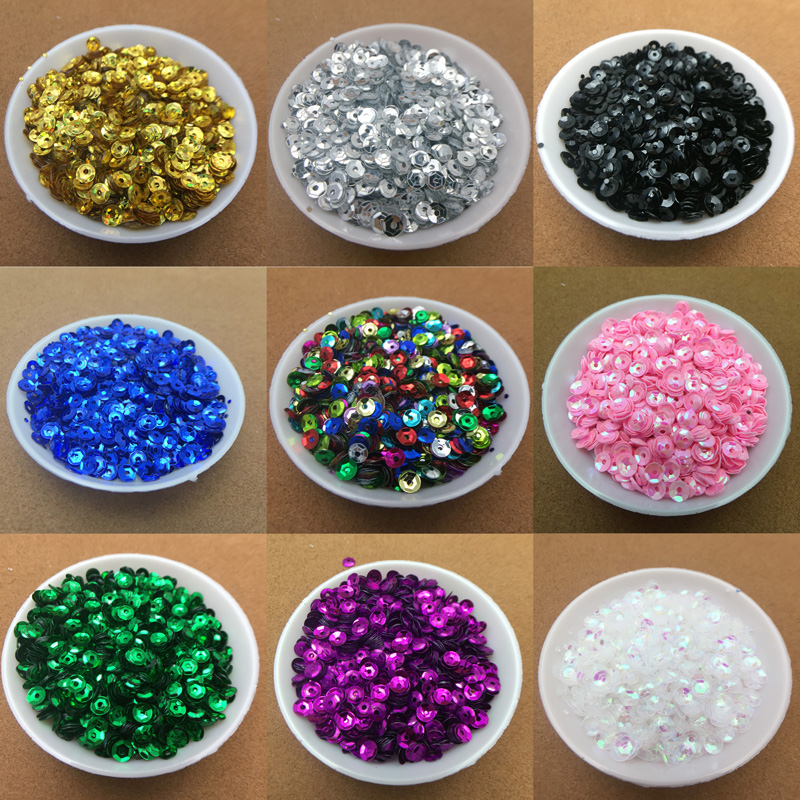 Detail Feedback Questions about 4000PC(20g) 4MM Flat Glitter Sequins PVC  Round Loose Sequins Paillette Sewing Craft Wedding Decoration DIY Clothing  ... 5936a3cf50bd