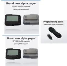 2 шт. ручной/pc программируемых пейджер, pocsag или Flex пейджер, альфа-системе подкачки приемник, Бесплатная кабель программирования, текстовое сообщение пейджер