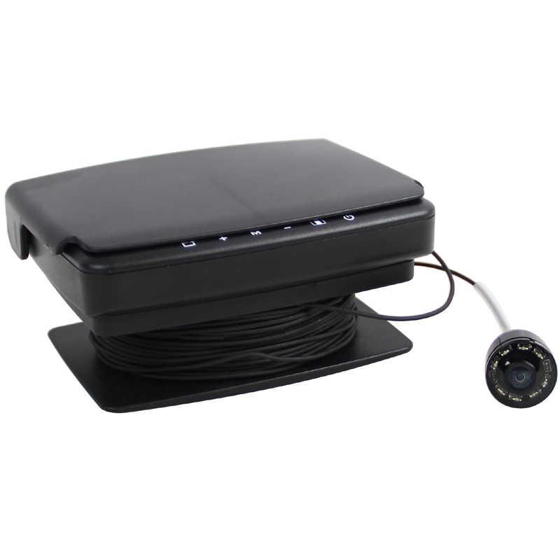 """Супер Мини 600TVL подводная камера с функцией DVR и 15 м AV/силовые кабели и 3,5 """"цифровой ЖК-монитор с солнцезащитной крышкой"""