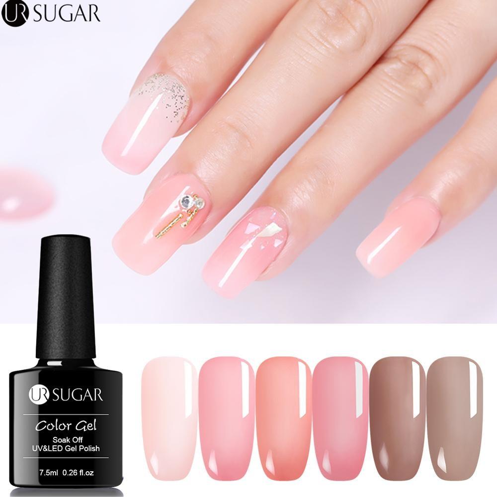 UR SUGAR Nail Polish Pink Nude Yellow Series Nail Varnish