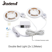 Motion Sensor Bed Led Strip Lights 1 2M Flexible LED Strips Motion Activated Night Lights Kit
