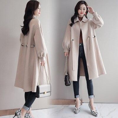 Longue La Grande 3 Version Femelle Femmes D'hiver Coréenne 2018 Nouvelles Taille Manteau Laine 2 Automne Marée De Section Et 4 1 Lâche 6ORwtPtq