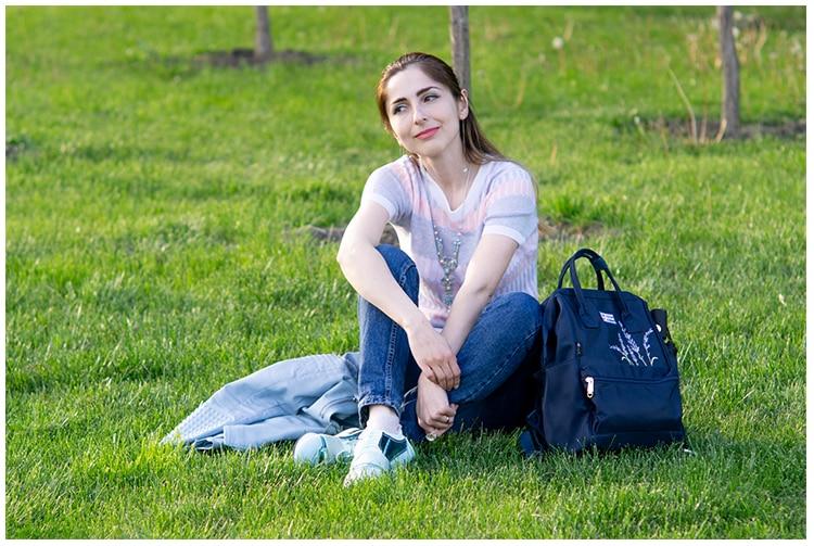 HTB14CZedBOD3KVjSZFFq6An9pXaV Flower Princess Embroidery Nylon Women Backpack Water-resist Laptop Bag College Travel Bagpack for Girl Daypack Mochila Feminina