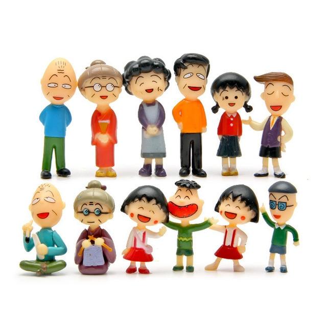 Chibi Maruko Chan Capitulo 4: Baby Toys 12pcs/lot Chibi Maruko Chan Figures Family