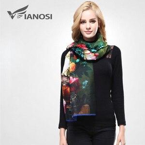 Image 3 - VIANOSI Bandana estampada para mujer, pañuelo de invierno, bufandas gruesas calientes de lana