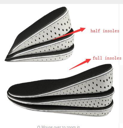 Unisex Men Insole Full Pad Air Cushion Heel Insert Increase Taller Height Lift H
