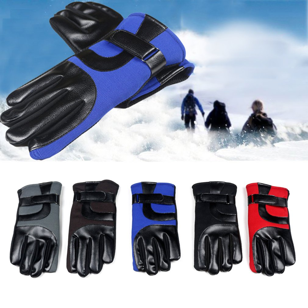 Outdoor Gloves Men Warm Telefingers Gloves Soft Plus Velvet Skiing Gloves Windproof Motorcycle Gloves For Spring Autumn Winter