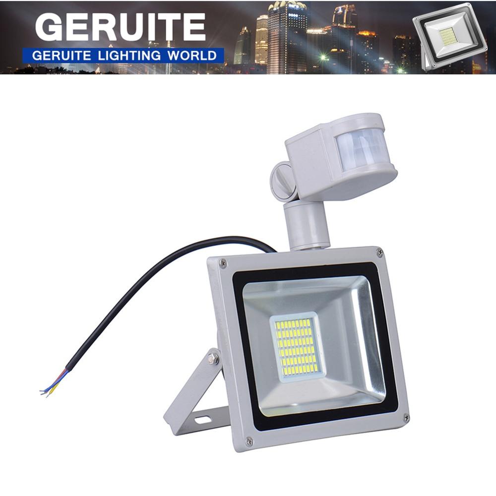 30W 1800LM LED Spotlight PIR Security Motion Sensor Outdoor Waterproof Floodlight Spotlight Light Lamp White Warm