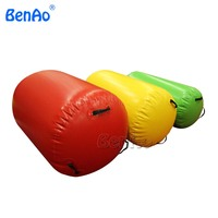GA056 Hot selling 60cm diamete inflatable gymnastics air barrel,air gym equipment inflatable air mat/track/roller for one pc