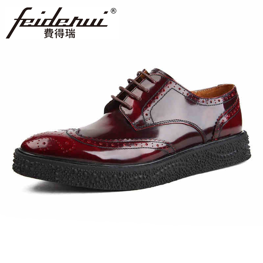 New Arrival British Style Patent Leather Men