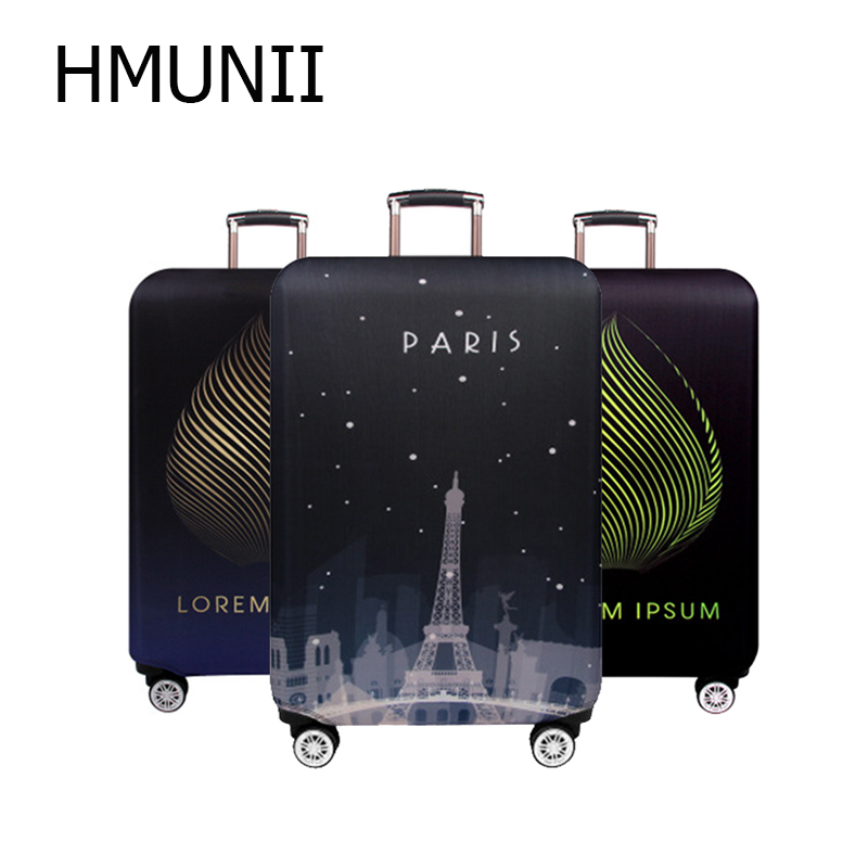 HMUNII Brand Thicken Travel Accessories Luggage Cover 18-32 Inch Case Suitcase Covers Trolley Baggage Dust Protective Case Cover