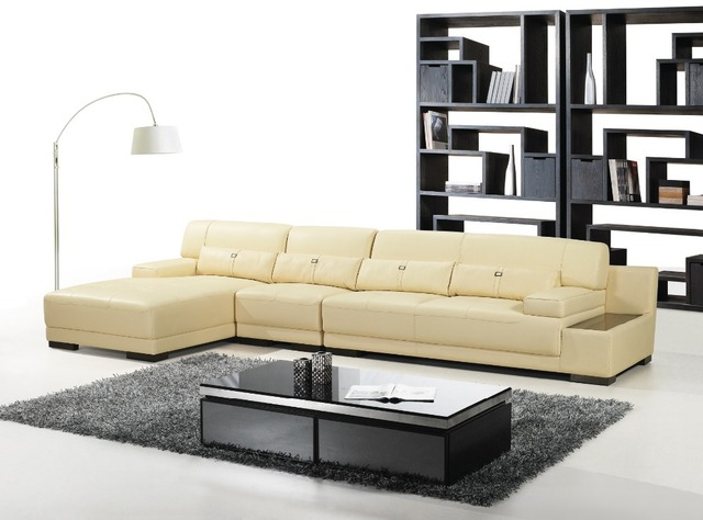 Elegant and rational Leather sofa Livingroom sofa sectional with pillows cupboard--Wholesale and retail shipping to your port