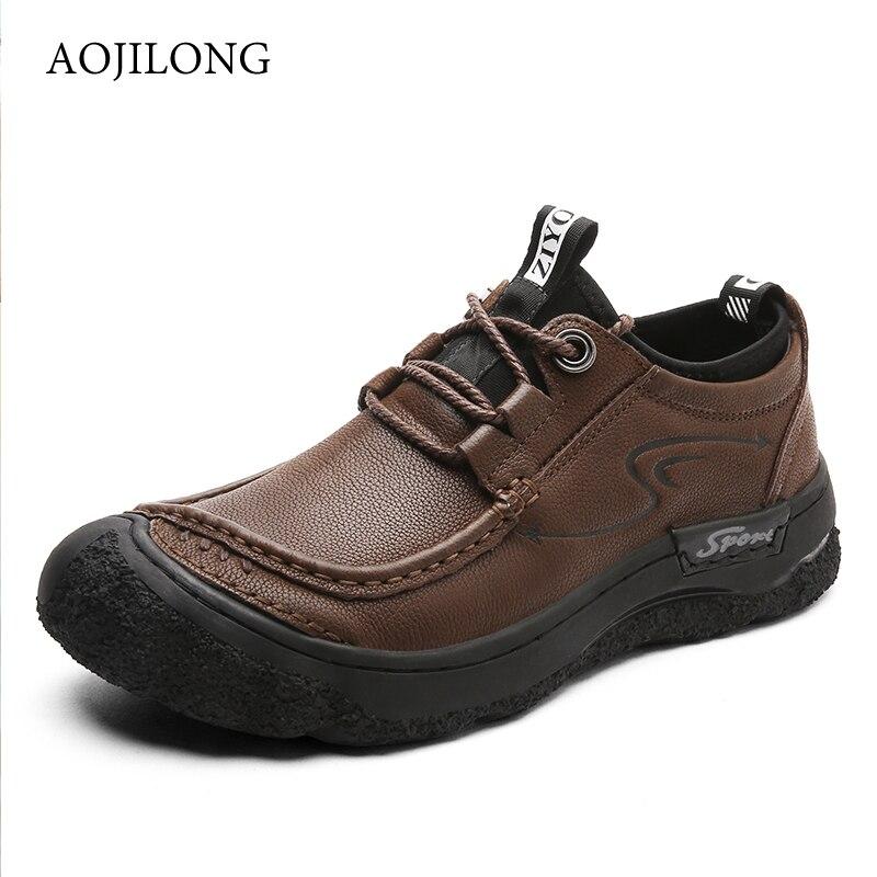 Marque hommes chaussures en cuir véritable Sport de plein air tactique hommes chaussures de randonnée Sneaker escalade Trekking chaussures plates pour homme mocassins Designer