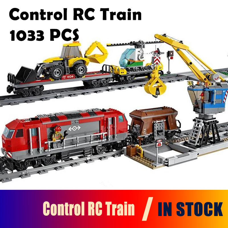 Model building blocks Compatible with Lego City 60098 02009 Engineering Remote Control RC Train Figure Bricks toys for children 0367 sluban 678pcs city series international airport model building blocks enlighten figure toys for children compatible legoe