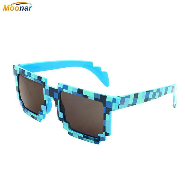 5b30a282b9c58 New Trendy Minecraft Glasses Summer Cute Vintage Square Novelty Mosaic Sun  Glasses Unisex Pixel Sunglasses Colors