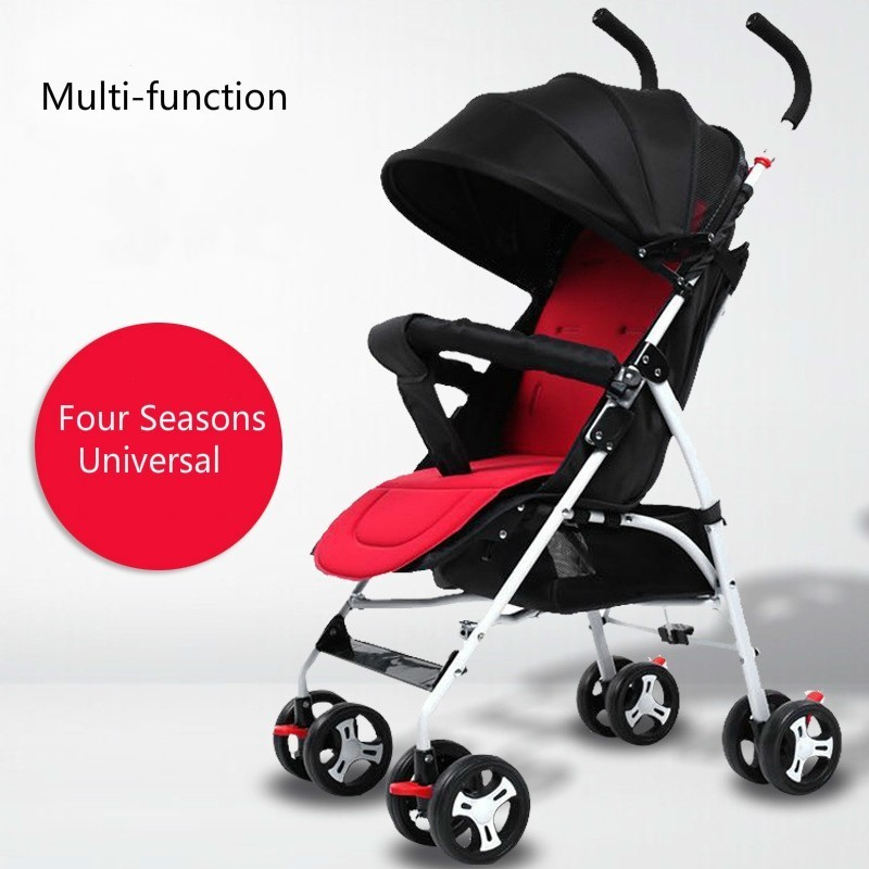 Baby Stroller Ultra Light Portable Sit Lie Summer High Landscape Umbrella Folding Baby Stroller Four-wheeled Cart Baby Carriage