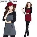 Бесплатная доставка женщины дамы офис стиль качество зима и весна платья мода 23