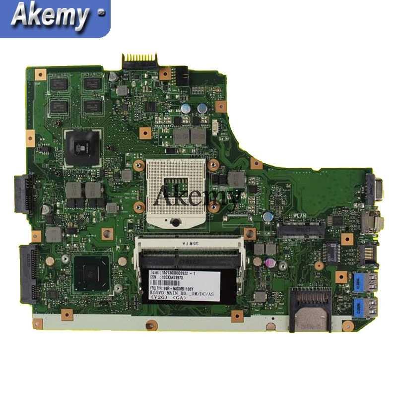 AK K55VD Motherboard Laptop UNTUK ASUS K55VD K55A A55VD F55VD K55V K55 Uji Asli Mainboard Dukungan untuk I3 I5 CPU