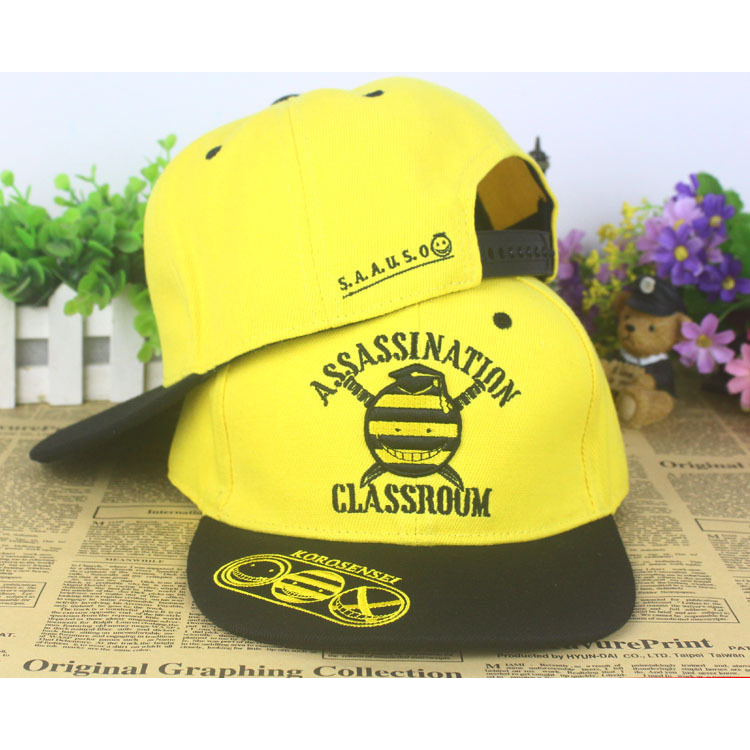 Hot Anime Assassination Classroom Attack on Titan Natsume Yuujinchou One Piece Baseball Cap Sun Hat Sign Cosplay Hat Peak Caps