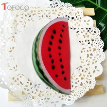 TOFOCO New 14cm Cute Watermelon Squishy Jumbo Slow Rising Toys Antistress Soft Decor Cake Kawaii Squishies Fruit Squeeze Scented(China)