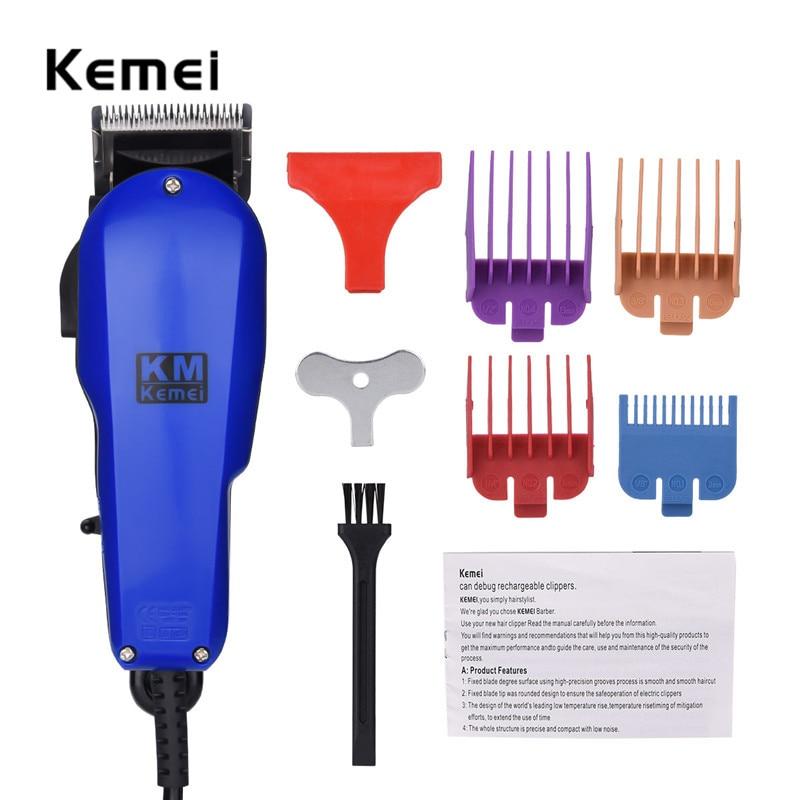 Kemei Corded Professional Electric Hair Clipper Low Noise Children Men Hair Trimmer Hair Cutting Machine To Haircut Beard Trimer