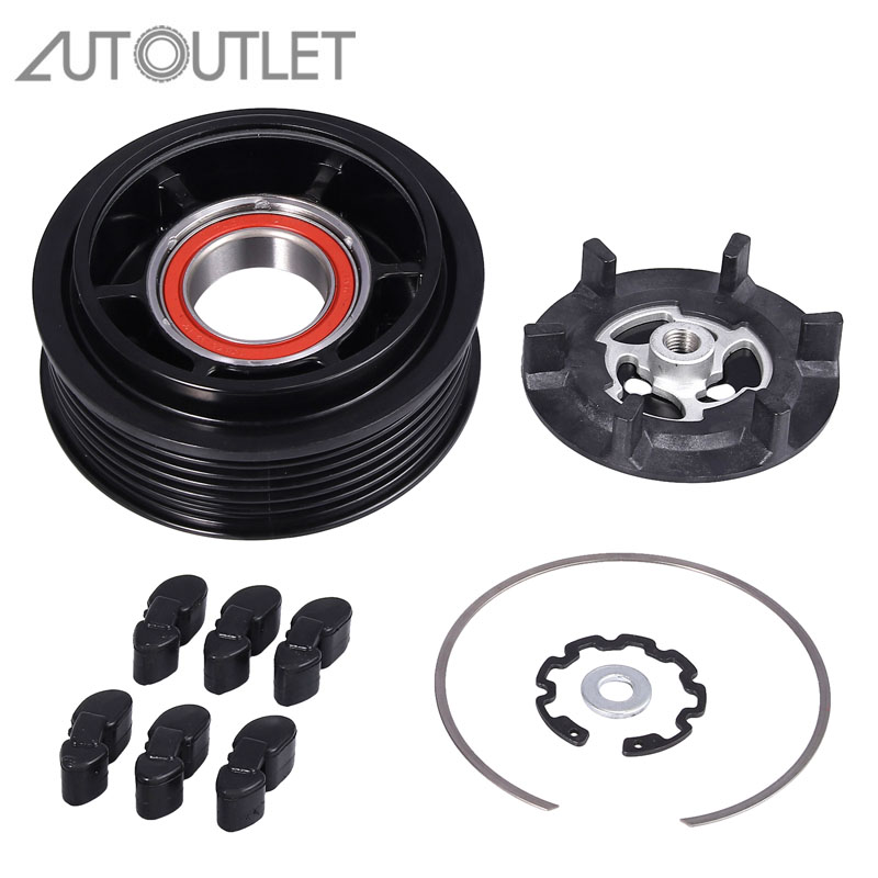 AUTOUTLET Magnetic Clutch Air Conditioning Compressor Clutch For Mercedes-Benz 6PK / 110MM W203 W204 W211 W163 W220 A0012305011