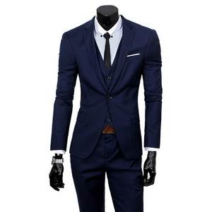 ADISPUTENT Trouser Suit Jacket Wedding-Suits Business-Dress Office Male Casual 3pc Vest