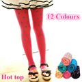 For 3~10 Years Baby Toddlers Kids Children's Tights  For Girls Dot Colours Cotton  Tights Girls Pantyhose