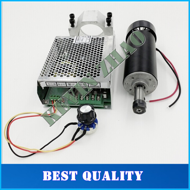 0 5kw Air cooled spindle ER11 chuck CNC 500W Spindle Motor 52mm clamps Power Supply speed