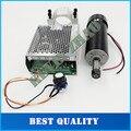 Квт с Воздушным охлаждением шпинделя ER11 чак ЧПУ 500 Вт Двигателя Шпинделя + 52 мм зажимы + Питания регулятор скорости Для DIY CNC