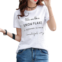 Letter Print Women Cotton T Shirt Summer Casual Female Tshirt Casual Short Sleeve Funny t shirt For Lady Girl Top Tee Plus Size цена