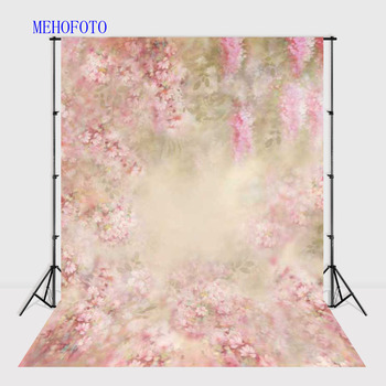 5X7ft Vinyl Photography Backdrops Pink Fantasy Floral Background Computer Printed Newborn Baby Backdrops for Photo Studio F-1475 customized art fabric candy rack photography backdrops for child studios drops newborns background 5x7ft